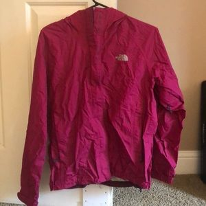 North Face Raincoat - Dark Pink